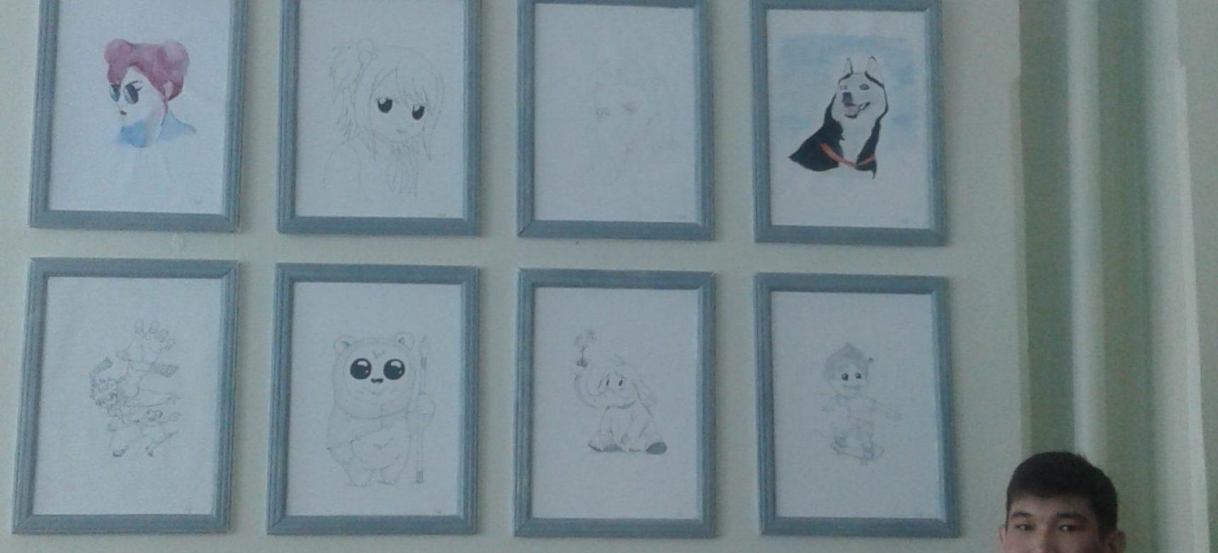Выставка рисунков на тему: «Хрустальный родник творчества»